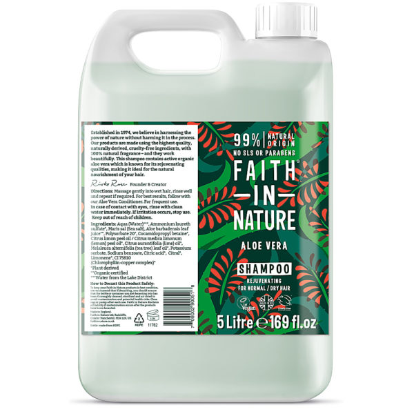 Faith In Nature Aloe Vera Shampoo 5L