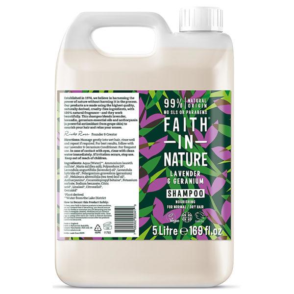 Faith In Nature Lavender & Geranium Shampoo 5L