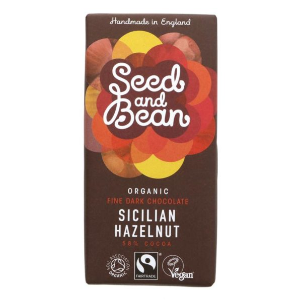 Organic Seed & Bean Company 58% Dark Choc & Hazelnuts