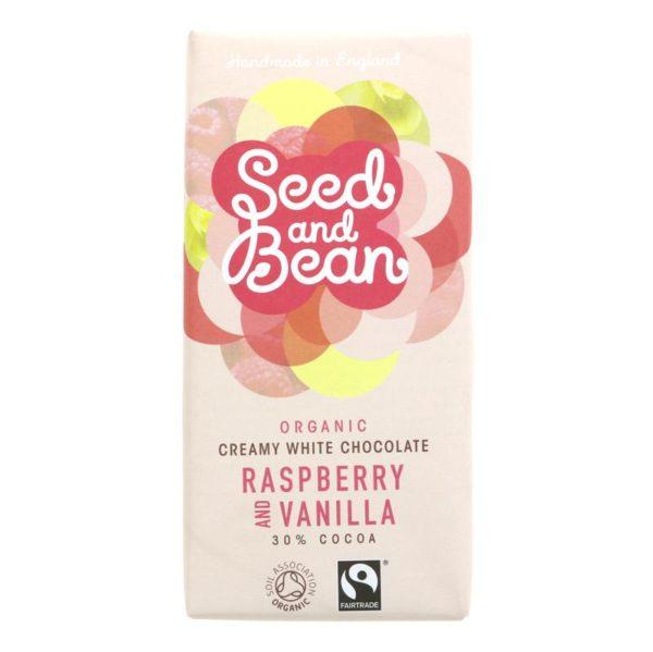 Organic Seed & Bean Company Raspberry & Vanilla White Bar