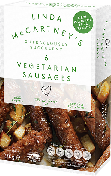 Linda Mccartney 6 pack of vegetarian sausages