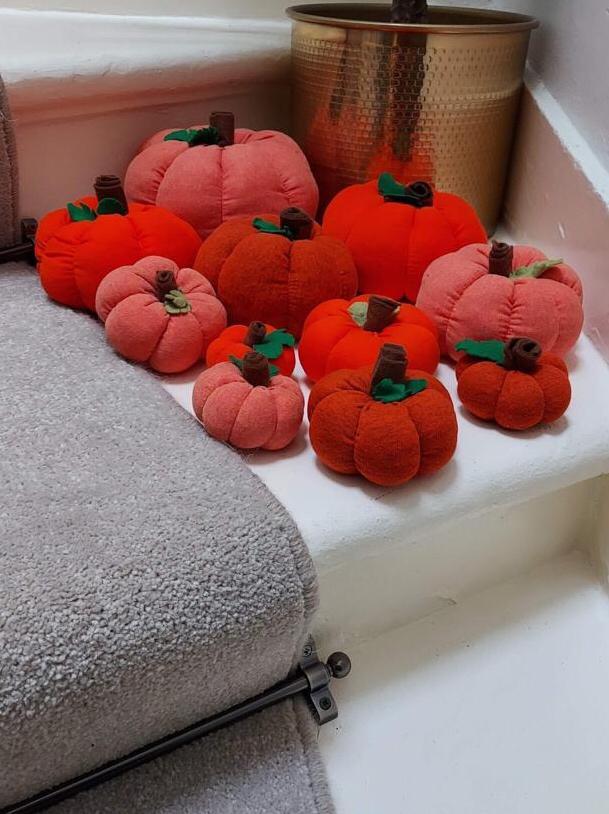 Crafty Pumpkins for sale at the East Lothian Farm Shop Craft Fair